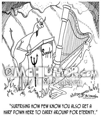 6525 Harp Cartoon