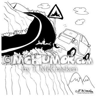 9305 Driving Cartoon