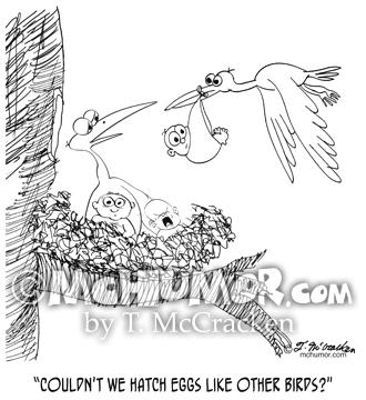 0604 Stork Cartoon