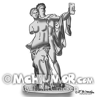 9417 Statue Cartoon