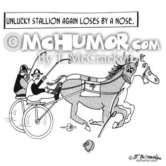 3123 Horse Racing Cartoon