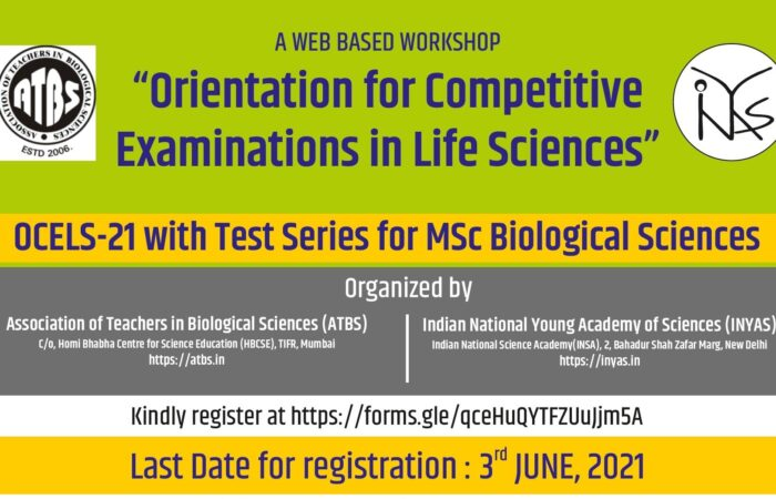 Orientation for Competitive Examinations in Life Sciences (OCELS-21)