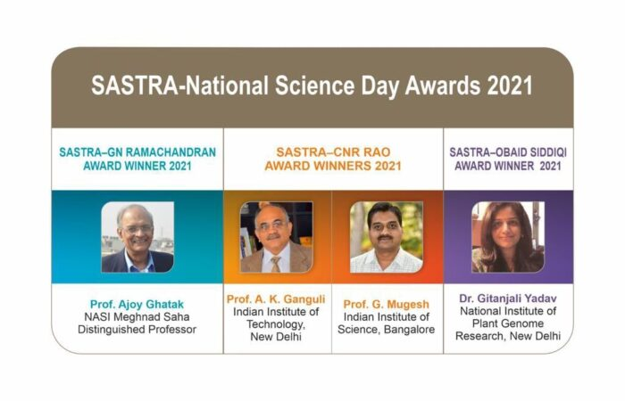 SASTRA–Obaid Siddiqi Award for excellence in Life Sciences