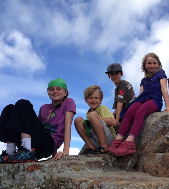Clare, Dakota, Kenyon and Bridget at the top of Cape Point.