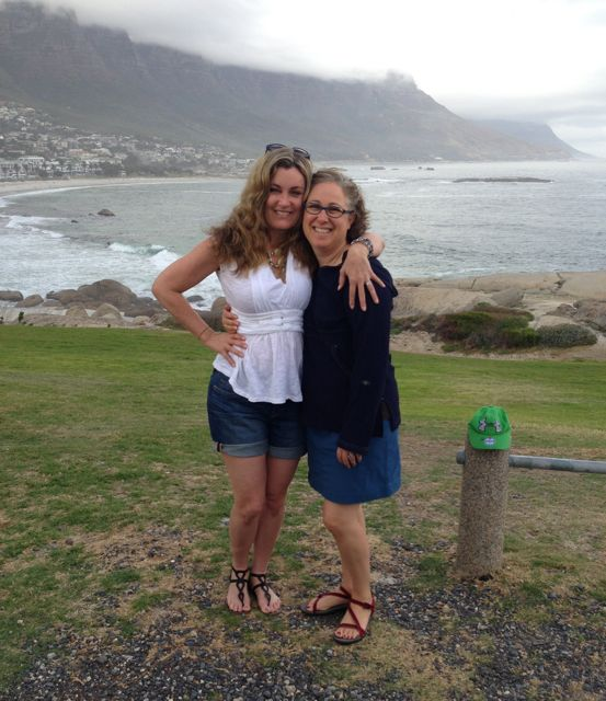 Miss Jenna and I at False Bay on the way to Cape Point.