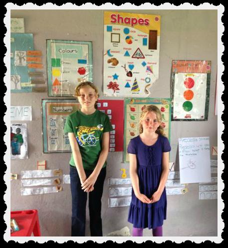 Clare and Bridget in class 3