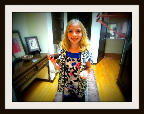 Ms Charlotte Fox post-make-over enjoying a lovely Dr. Pepper.