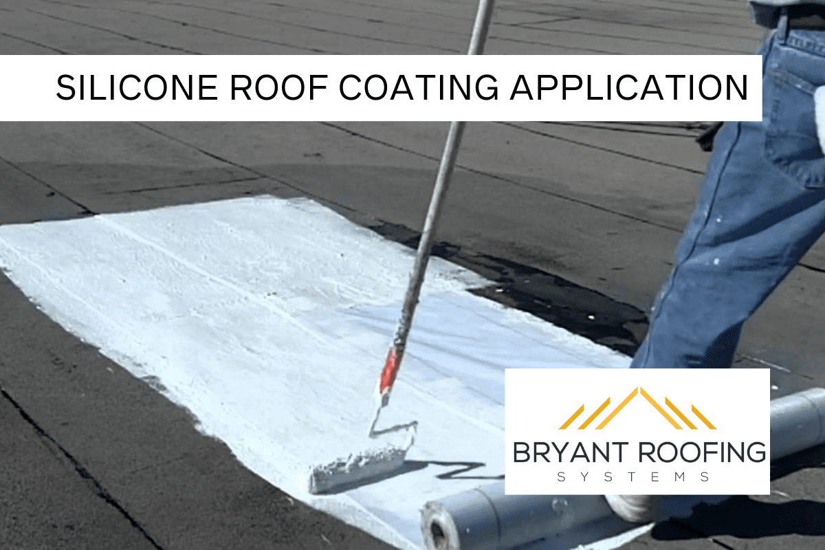 silicone roof coating application