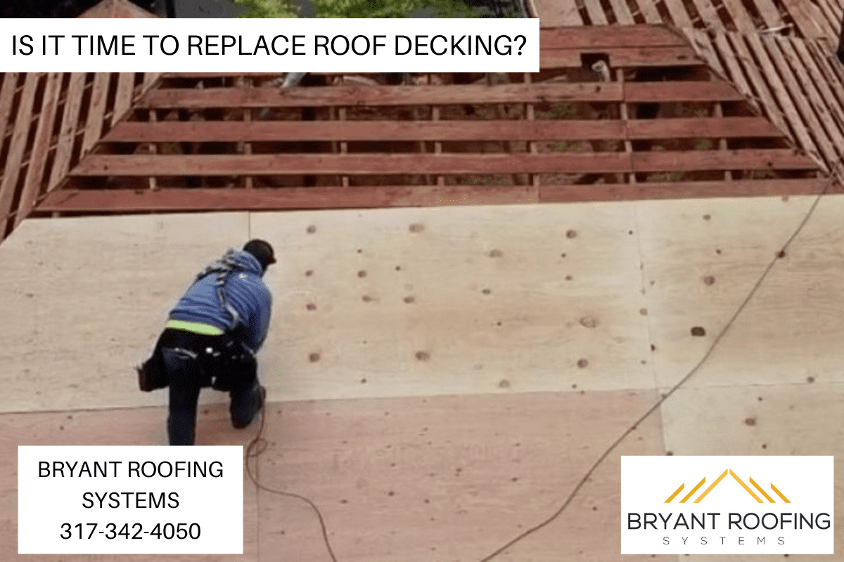 REPLACE ROOF DECKING
