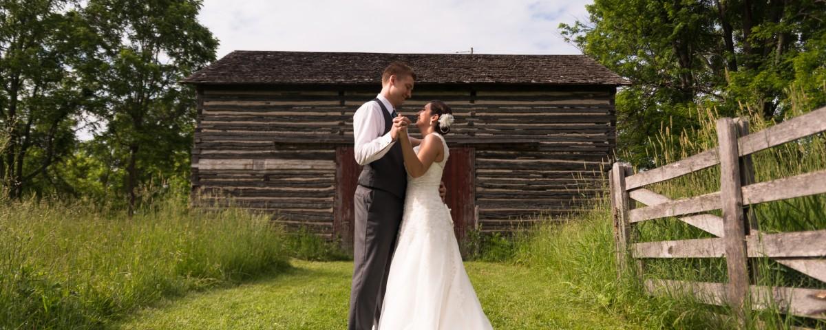Fanshawe Pioneer Village Wedding Photo