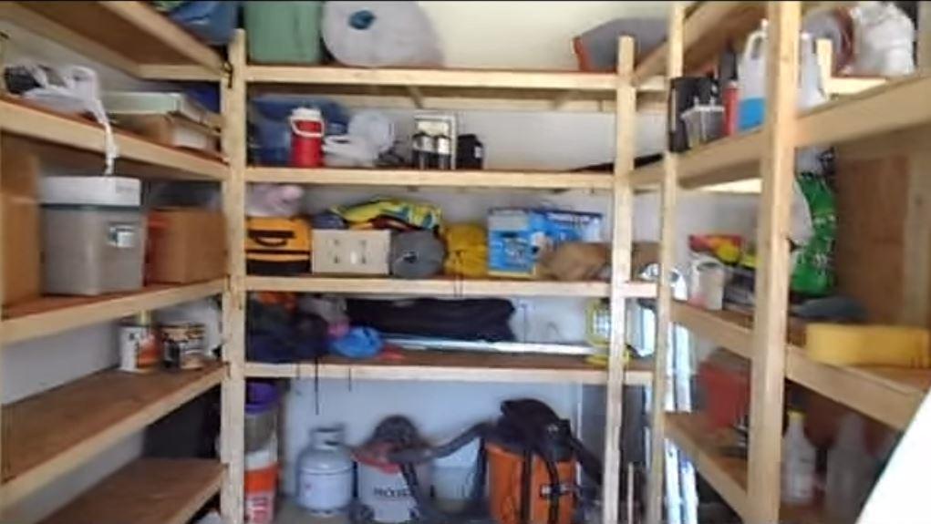 Simple, Inexpensive Storage Shelving