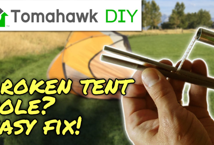 how to repair tent poles, the easy and permanent way