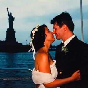 Lez and Rob on wedding day