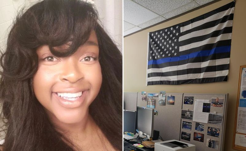 Karimah Guion-Pledgure and blue lives matter