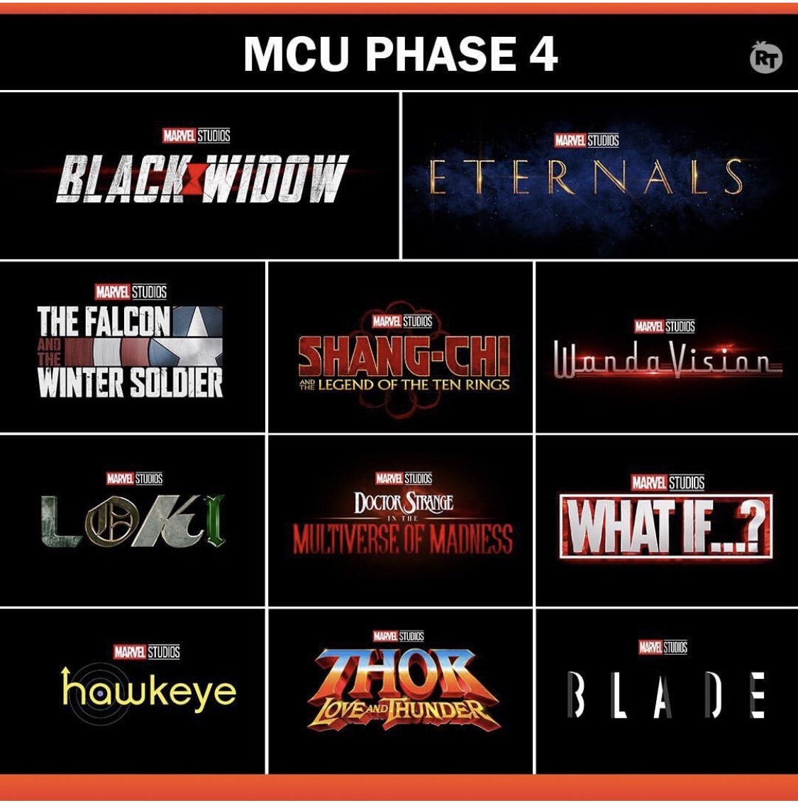 mcu marvel cinematic universe phase 4