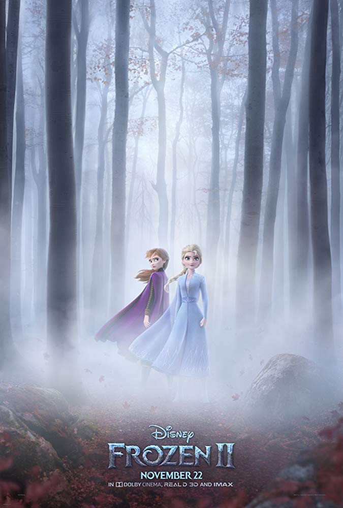 frozen 2 movie poster elsa and anna hey
