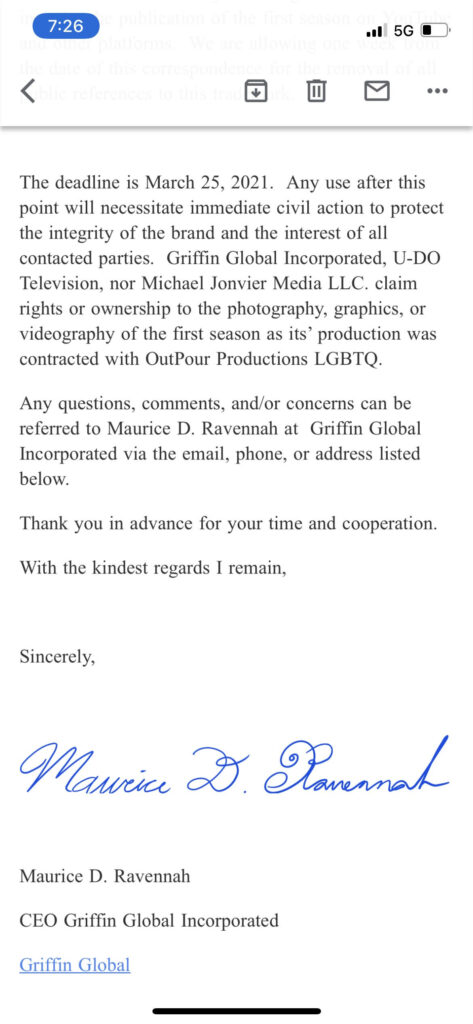 antar bush outpour lgbt productions uses homophobic slur faggot