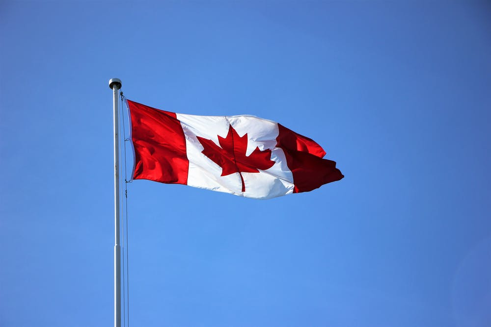 Canadian flag of freedom