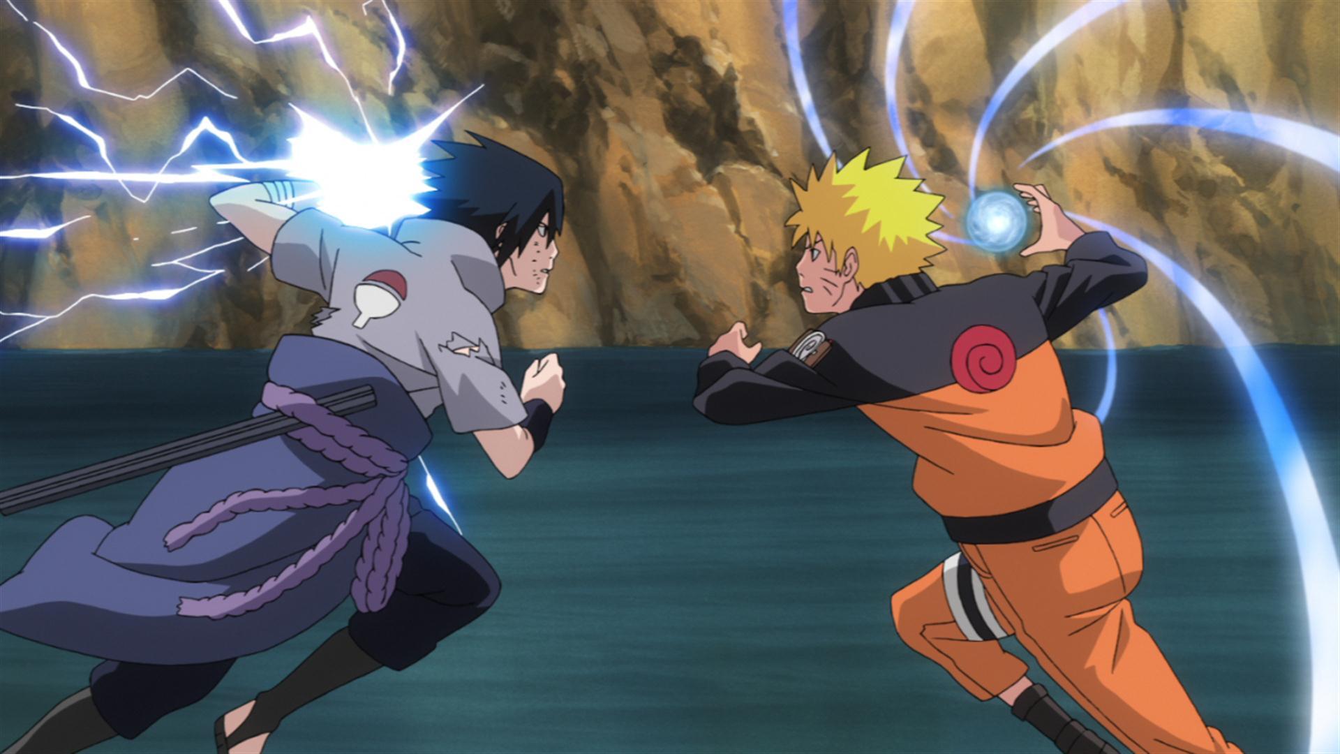 Naruto beats sasuke