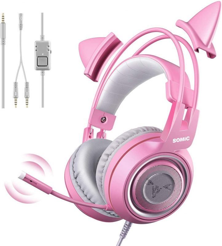SOMIC G951s Pink Stereo Gaming Headset with Mic