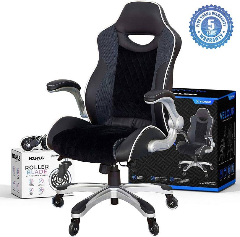 NOUHAUS Velour Office Chair