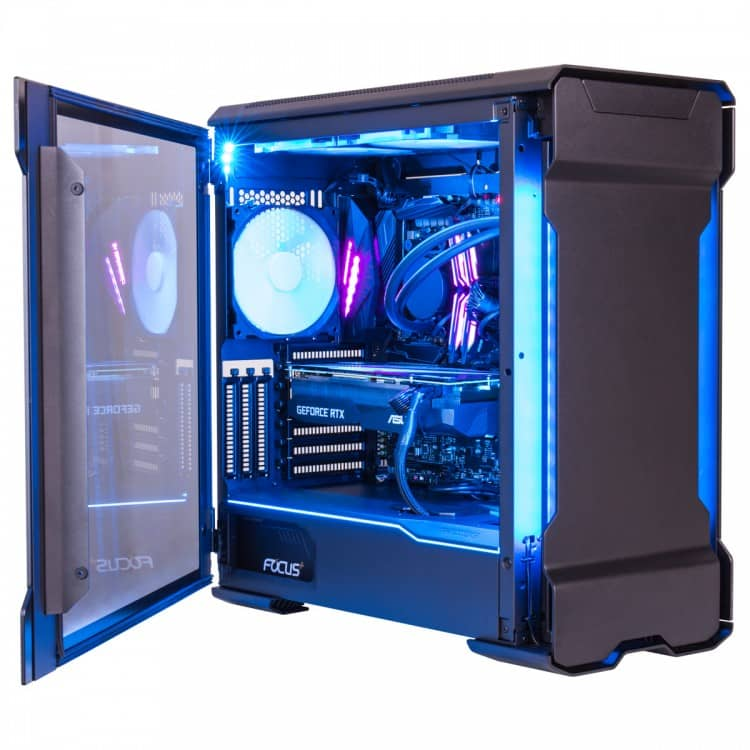 gaming pc blue lights