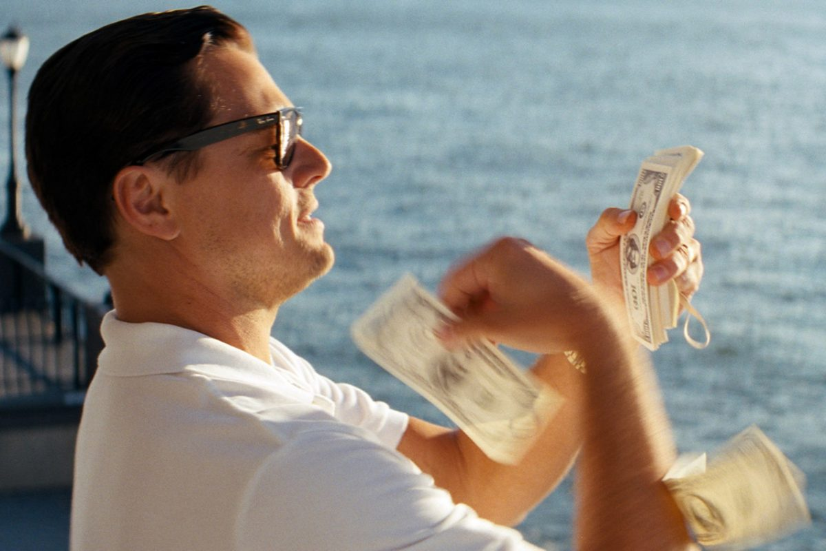 wolf of wall street throwing money