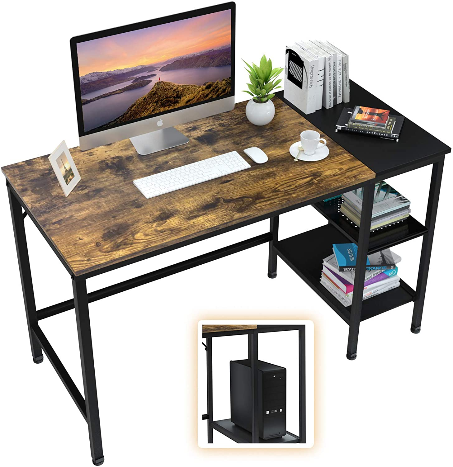 Computer-Gaming-Desk-with-storage-shelves