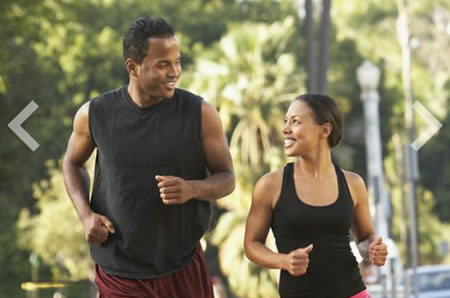 couple, running, strong, smiling, hormonal