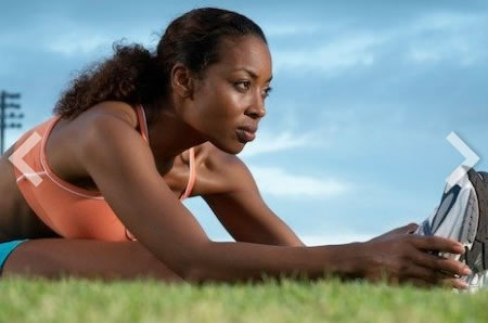woman, stretching, outside, estrogen, exercise
