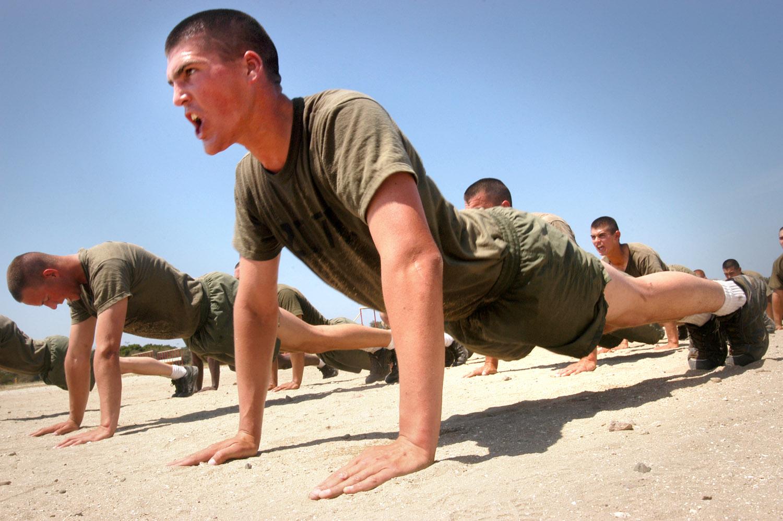 Marines bootcamp exercise