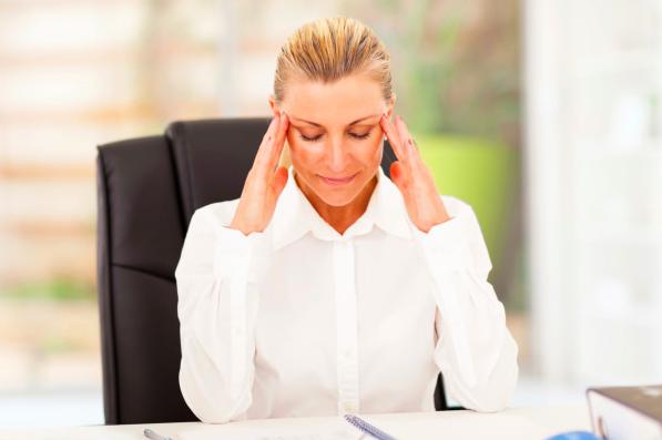 Stress, work, at desk