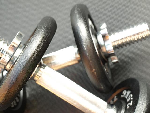 pair of dumbbells, exercise strength equipment