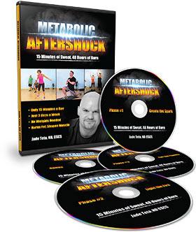 Metabolic aftershock DVD workout program