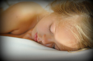 Sleeping child angelic