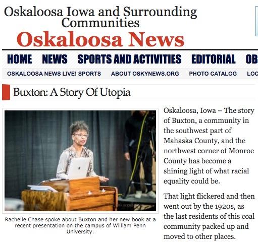 Rachelle Chase in Oskaloosa News