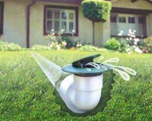 use pop up drains to move water away from foundation