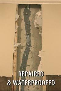 Indianapolis water damage contractor foundation crack repair