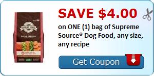 Supreme Source Dog Food Printable Coupon