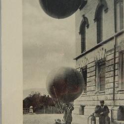 CARD: Postal, Launching a Recording Balloon, Germany circa 1910