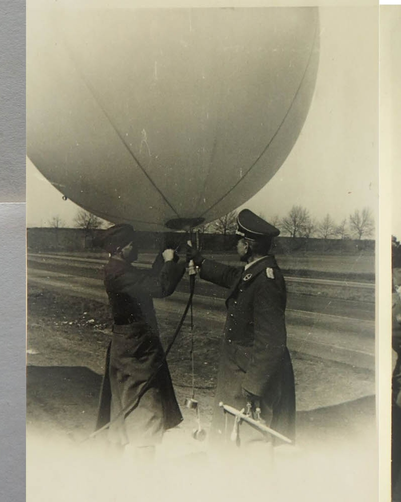 1928 (?)--German (?) Soldiers with Balloon