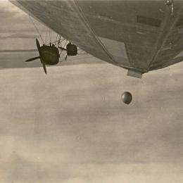 1931 Launching Molchanov Radiosonde from Graf Zeppelin