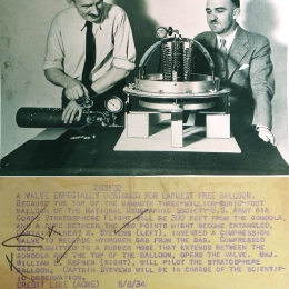 1934--Hydrogen-Release Valve for Explorer Balloon