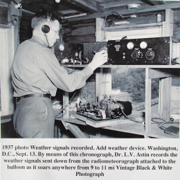 1937--Dr. L. V. Astin Monitors Radiometeorograph Signals, Washington DC