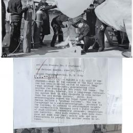 1940 - Coast Guard radio meteorograph launch aboard USCGC Chelan