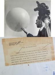 1943--Launching a Weather Bureau Pilot Balloon, Waco, TX