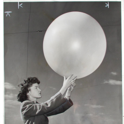 1945--Woman Meteorological Aide Releases Pilot Balloon, Detroit MI