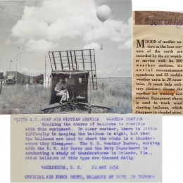 1951-- Preparing to Track Weather Balloon, Orlando, FL (combined)