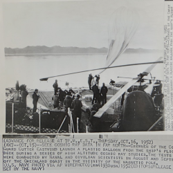 1952 --Cosmic Ray Study Balloon Prelaunch From USCGC Eastwind, Off Greenland
