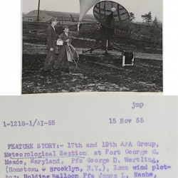 1955-11-15 Army Radiosonde Launch, Fort Meade, MD